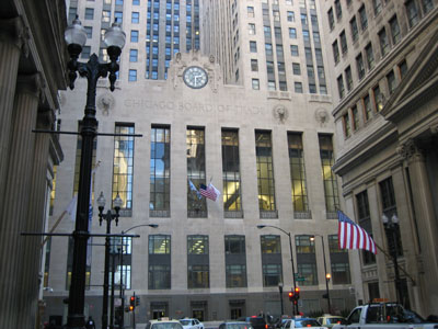 Chicago Board of Trade and LaSalle Street